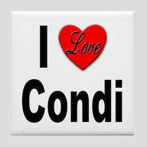 I Love Condi Tile Coaster
