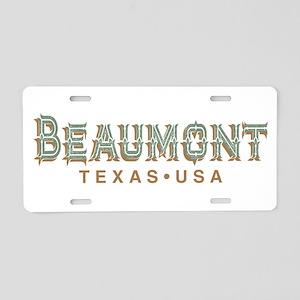 Retro Beaumont Aluminum License Plate
