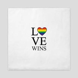 love wins Queen Duvet