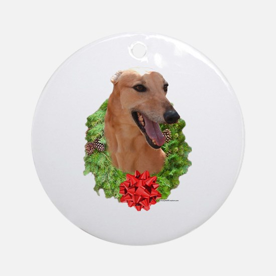 Red Wreath Ornament (Round)