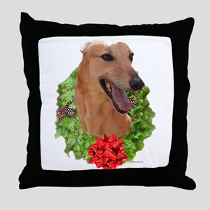 Red Wreath Throw Pillow