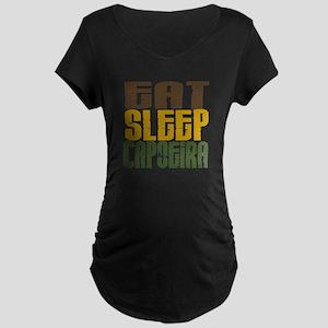 Eat Sleep Capoeira Maternity Dark T-Shirt