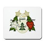 Peace Love Joy Snowman Mousepad