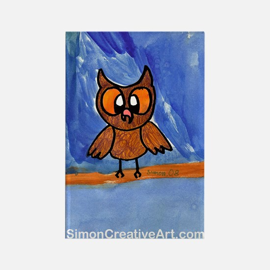 Simon's Friendly Owl Rectangle Magnet (10 pack)