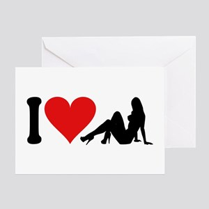 I Love Strippers (design) Greeting Card