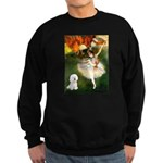 Ballet Dancer & Bichon Sweatshirt (dark)