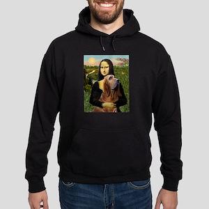 Mona & her Bloodhound Hoodie (dark)