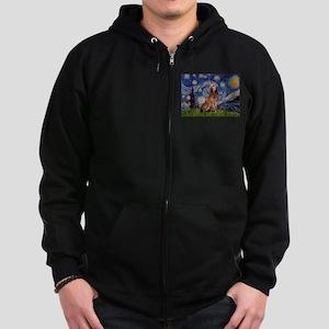 Starry Night Bloodhound Zip Hoodie (dark)