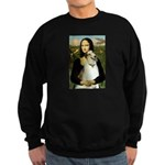 Mona & her Borzoi Sweatshirt (dark)