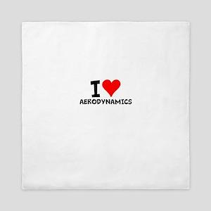I Love Aerodynamics Queen Duvet