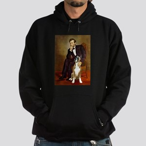 Lincoln & his Boxer Hoodie (dark)