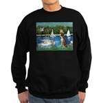 Sailboats & Boxer Sweatshirt (dark)