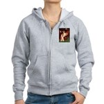 Seated Angel & Ruby Cavalier Women's Zip Hoodie