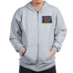 Starry Night Ruby Cavalier Zip Hoodie