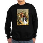 Flowers & Tri Cavalier Sweatshirt (dark)