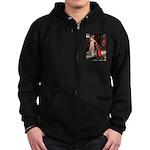 Accolade / Cocker Spaniel Zip Hoodie (dark)