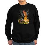 Fairies / Dachshund Sweatshirt (dark)