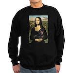 Mona Lisa/Dachshund (BT4) Sweatshirt (dark)