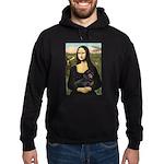 Mona Lisa/Dachshund (BT4) Hoodie (dark)