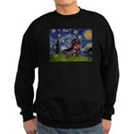 Starry Night Dachshund (Wire) Sweatshirt (dark)