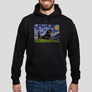 Starry Night Dachshund Hoodie (dark)