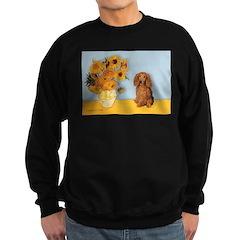 Sunflowers - Doxie (LH,S) Sweatshirt (dark)