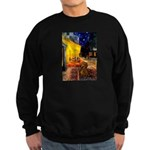 Cafe /Dachshund Sweatshirt (dark)
