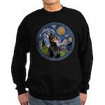 Starry Night Doberman (#1) Sweatshirt (dark)