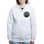 Starry Night Doberman (#1) Women's Zip Hoodie