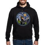 Starry Night Doberman (#1) Hoodie (dark)