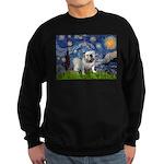 Starry Night English Bulldog Sweatshirt (dark)
