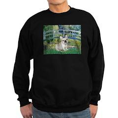 Bridge / Fr Bulldog (f) Sweatshirt (dark)
