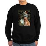 Ophelia & Golden Retriever Sweatshirt (dark)