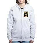 Mona Lisa / Greyhound #1 Women's Zip Hoodie