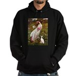 Windflowers / Ital Greyhound Hoodie (dark)