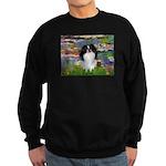 Lilies (#2)/Japanese Chin Sweatshirt (dark)