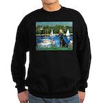 Sailboats & Black Lab Sweatshirt (dark)