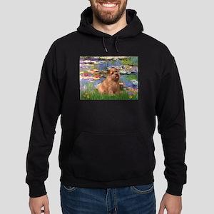 Lilies /Norfolk Terrier Hoodie (dark)