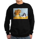 Sunflowers/PBGV Sweatshirt (dark)