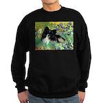 Irises / Pomeranian(bb) Sweatshirt (dark)