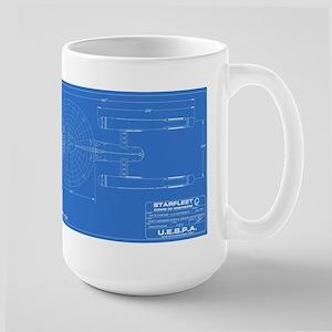 Enterprise Blue Blueprint Mugs