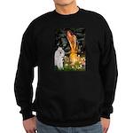 Fairies / Std Poodle(w) Sweatshirt (dark)