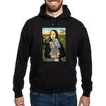 Mona Lia/Std Poodle (silver) Hoodie (dark)