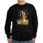 Fairies & Pug Sweatshirt (dark)