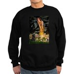 Fairies & Black Pug Sweatshirt (dark)