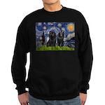 Starry Night & Schipperke Sweatshirt (dark)