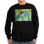 Irises / Miniature Schnauzer Sweatshirt (dark)