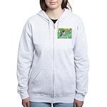 Irises / Miniature Schnauzer Women's Zip Hoodie