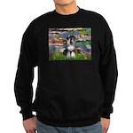 Lilies / Schnauzer Sweatshirt (dark)