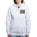 Lilies / M Schnauzer Women's Zip Hoodie